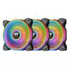 Ventilateur boîtier Thermaltake Riing Quad 12 RGB - Noir - 120 mm (Pack de 3)