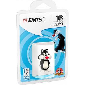 Clé USB Emtec L101 Looney Tunes Sylvester 16Go USB 2.0 (Blanc/Noir)