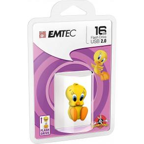 Clé USB Emtec L100 Looney Tunes Titi 16Go USB 2.0 (Jaune)