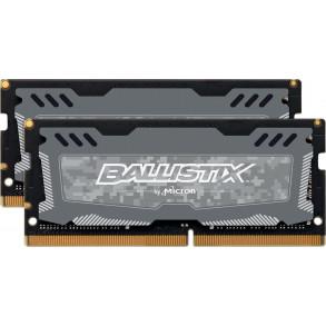 Kit Barrettes mémoire SODIMM DDR4 Ballistix Sport LT PC4-19200 (2400 Mhz) 32Go (2x16Go) (Gris)