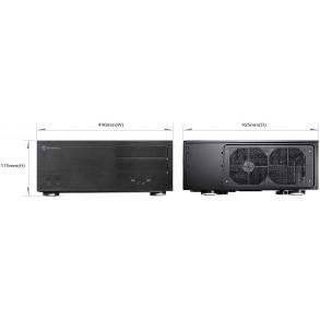 Boitier HTPC Silverstone SST-GD08B (Noir)