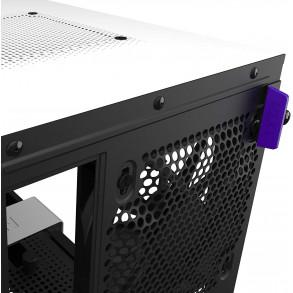 Boitier Mini Tour Mini ITX NZXT H210i RGB avec panneau vitré (Noir/Blanc)