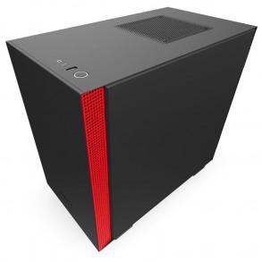 Boitier Mini Tour Mini ITX NZXT H210i RGB avec panneau vitré (Noir/Rouge)
