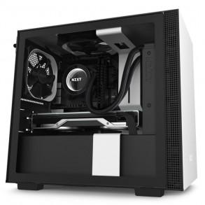Boitier Mini Tour Mini ITX NZXT H210 avec panneau vitré (Noir/Blanc)