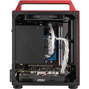 Boitier Mini Tour Mini ITX Jonsbo T8 avec panneau vitré (Rouge)