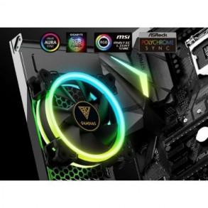 Boitier Mini Tour Micro ATX Gamdias Talos E1 RGB avec panneaux vitrés + Alimentation 500W RGB