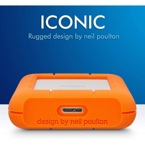 "Disque Dur Externe LaCie Rugged Mini 1To (1000Go) USB 3.0 - 2,5"" (Orange/Gris)"