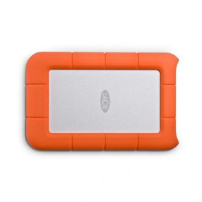 "Disque Dur Externe LaCie Rugged Mini 2To (2000Go) USB 3.0 - 2,5"" (Orange/Gris)"
