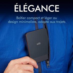 Disque dur externe LaCie 1To (1000Go) SSD USB 3.1 Type C (Noir)