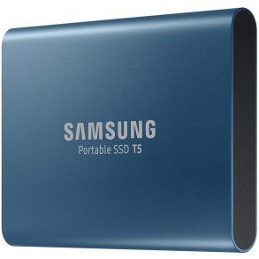 "Disque dur externe Samsung SSD portable T5 500 Go (MU-PA500B/EU) USB 3.0 - 2,5"" (Bleu)"