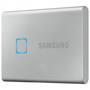 """Disque dur externe Samsung SSD portable T7 Touch 1To (1000Go) USB 3.1 - 2,5"""" (Argent)"""