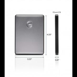 """Disque Dur Externe 2,5"""" USB Type C 3.1 G-Drive Mobile USB-C 1To (1000Go) (Gris)"""