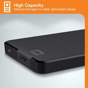 """Disque Dur Externe Western Digital Elements Portable 4To (4000Go) USB 3.0 - 2,5"""" (Noir)"""