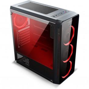 Boitier Moyen Tour ATX Spirit of Gamer Deathmatch 7 RGB avec panneaux vitrés (Noir)