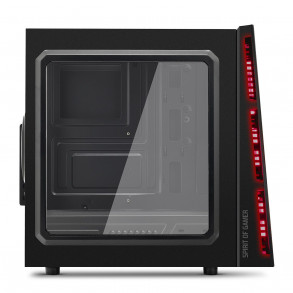 Boitier Moyen Tour ATX Spirit of Gamer Deathmatch 5 avec fenêtre (Noir/Rouge)