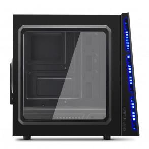 Boitier Moyen Tour ATX Spirit of Gamer Deathmatch 5 avec fenêtre (Noir/Bleu)