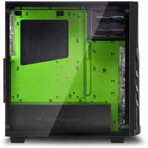 Boitier Moyen Tour ATX Sharkoon DG7000-G Vert avec panneau vitré (Noir)