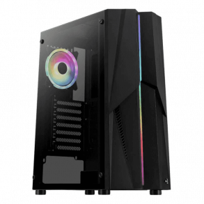 Boitier Moyen Tour ATX AeroCool Mecha A RGB avec panneau vitré (Noir)