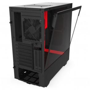 Boitier Moyen Tour ATX NZXT H510i RGB avec panneau vitré (Noir/Rouge)