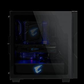 Boitier Moyen Tour ATX Gigabyte Aorus C300G RGB avec panneau vitré (Noir)