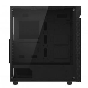 Boitier Moyen Tour ATX Gigabyte C200 Glass RGB avec panneau vitré (Noir)
