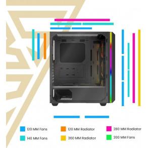Boitier Moyen Tour ATX Gamdias Athena M2 RGB avec panneaux vitrés (Noir)