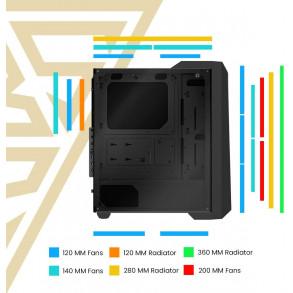 Boitier Moyen Tour ATX Gamdias Apollo M1 RGB avec panneaux vitrés (Noir)