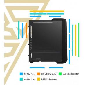 Boitier Moyen Tour ATX Gamdias Argus M2 RGB avec panneau vitré (Noir)