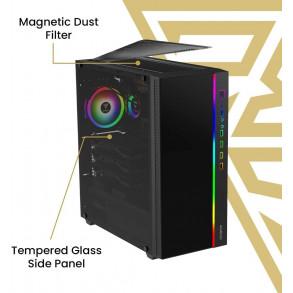 Boitier Moyen Tour ATX Gamdias Argus M3 RGB avec panneau vitré (Noir)