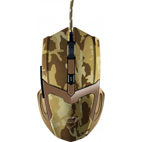 Souris filaire Gamer Trust GXT-101D Gav Desert Camo (Motif Camouflage Jaune)