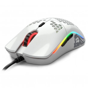 Souris filaire Gamer Glorious PC Gaming Race Model O RGB (Blanc Brillant)
