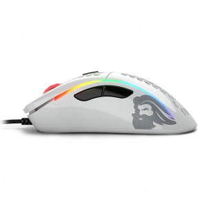 Souris filaire Gamer Glorious PC Gaming Race Model D RGB (Blanc Brillant)