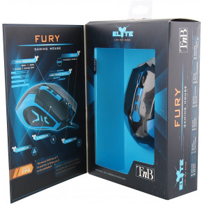 Souris Gamer T'nB Elyte Fury (Noir/Bleu)