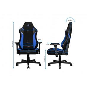 Fauteuil Nitro Concepts X1000 Galactic Blue (Noir/Bleu)