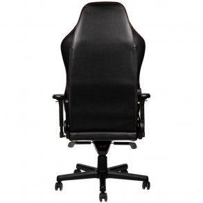 fauteuil Gamer NobleChairs HERO Cuir Véritable - Noir/Rouge/Cuir/4D